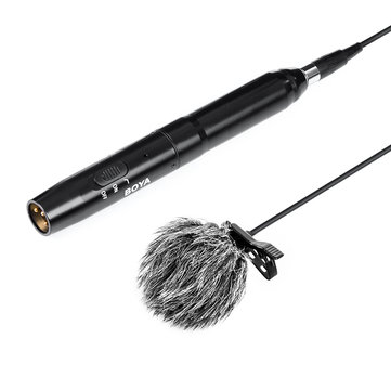 BOYA BY-M11OD Professional Omni-directional XLR Lavalier Microphone System for Interview Recording