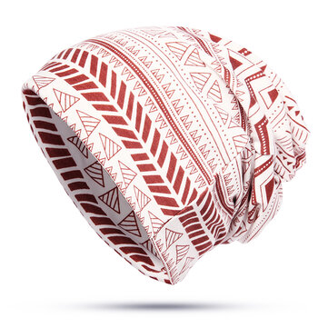 Unisex Geometric Pattern Print Headscarf Beanie Multi-purpose Headband Scarf Cap