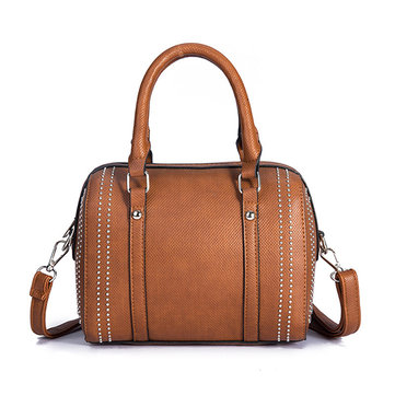 Women Leather Classic Leisure Handbag Crossbody Bag