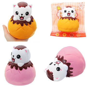 LeiLei Squishy Jumbo Puff Cat Kitten Slow Rising Original Packaging Soft Collection Gift Decor Toy