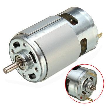 775 двигатель постоянного тока 12v-36v 3500-9000rpm Мотор большой крутящий момент Высокомощный мотор