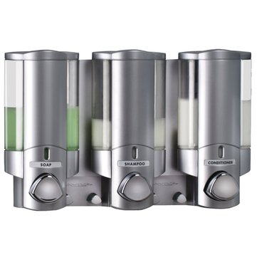 KCASA KC-DK03 Three Chamber Dispenser Wall Mounted Bathroom Lotion Shampoo Liquid Soap Dispenser Set