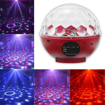 10W Remote Bluetooth Speaker LED RGB Crystal Magic Ball Effect Stage Disco Party Light Music Player