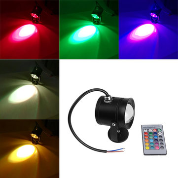 10W LED RGB Remote Control Waterproof IP68 Under Water Spot Lightt Fountain Pool Lamp DC12V