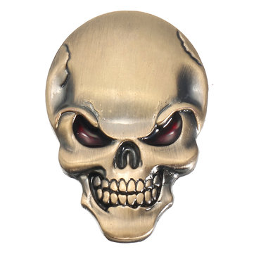Demon Skulls Metal 3D Car Sticker Skull Bone Emblem Badge Decals Sticker
