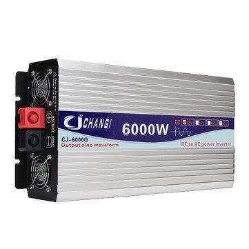 Buy Intelligent Screen Pure Sine Wave Power Inverter 12V/24V To 220V 3000W/4000W/5000W/6000W Converter for $129.99 in Banggood store