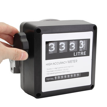 120L/min 4 Digital Diesel Fuel Oil Flow Meter Counter Diesel Gasoline Petrol Oil Flow Meter Counter Gauge