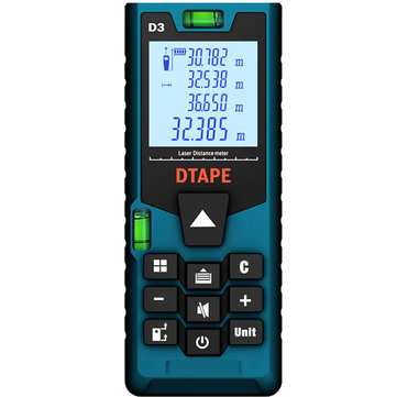 DTAPE D3 Digital Laser 40m 60m 80m 100m Rangefinder Distance Meter Single Continuous Area/Volume/Pythagorean Measurement