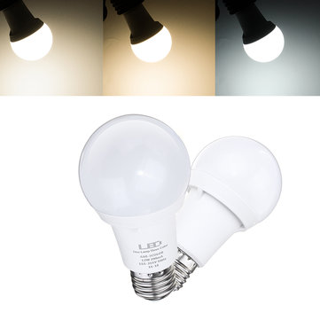 E27 12W A60 White Warm White Natural White Three Colors Changeable SMD2835 LED Light Bulb AC165-265V