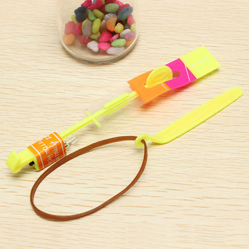 5PCS Amazing Toy LED Flash Rubber Band Helicopter Arrows For Kids