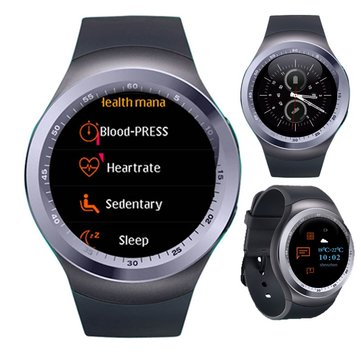 XANES Y1 Plus 1.54'' IPS Screen Heart Rate Blood Pressure Monitor Pedometer Remote Camera Smart Watch