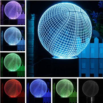 3D LED Basketball Night Light 7 Color Change Desk Table Lamp Birthday Xmas Gift