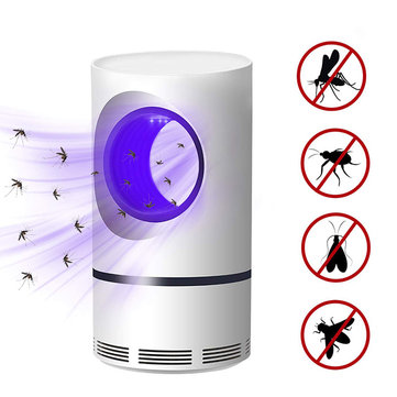 5W LED USB Mosquito Dispeller Repeller Mosquito Killer Lamp Electric Bug Insect Zapper Pest Trap Light Outdoor Camping