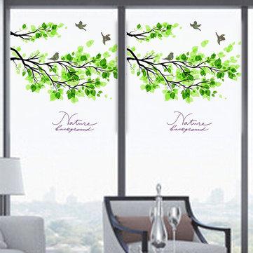 60x58cm 서리로 덥은 불투명 유리 창 영화 나무 및 새 개인 유리 스티커 홈 장식