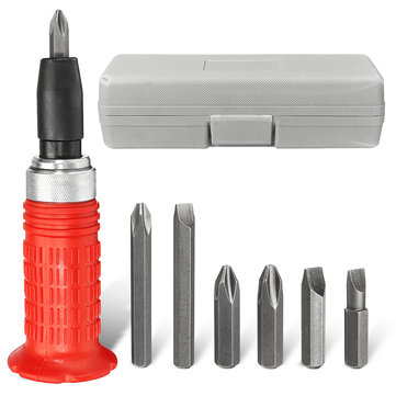 Manual Impact Driver Kit Screwdriver 1/4 Inch Drive Hammer Screw Socket Drive Tool With Bits