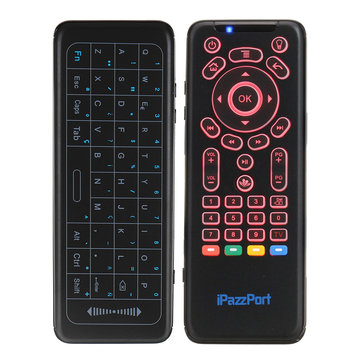 iPazzPort KP-62 Spainish 2.4G Wireless 7 Color Backlit Keyboard Full Touchpad IR Learning Airmouse
