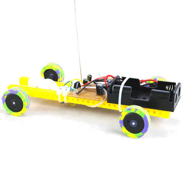 Two-way Remote Control Robot Tank Model Assembly Toy DIY Kit