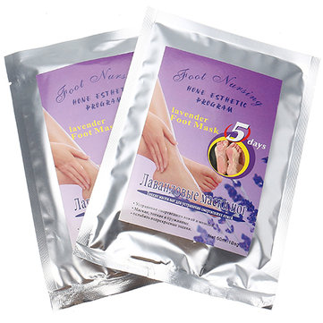 2 Pairs Lavender Feet Peel Mask Exfoliating Calluses Remover Dead Skin Foot