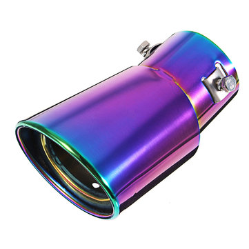 Universal Car Exhause Muffler Stainless Steel Pipe Modified Car Rear Tail Throat Liner Accessories