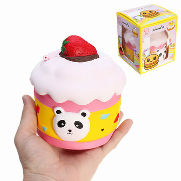 Xinda Squishy Strawberry Panda Cake 13cm Slow Rising Avec Emballage Collection Gift Decor Toy