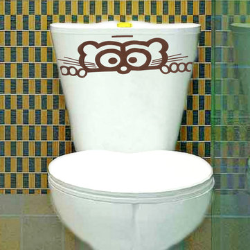 Wall Sticker Toilet Peeping Toilet Seat Decals Wall Decal Wallpaper Removable Decor