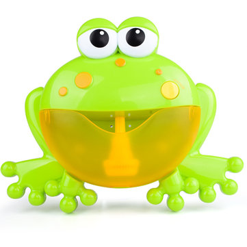 Big Frog Automatic Bubble Blower Music Bubble Maker Baby Bath Toy Bathtub Soap Bubble Machine