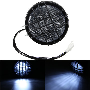 5inch LED Motorcycle Grill Headlight Light For Harley Chopper Bobber