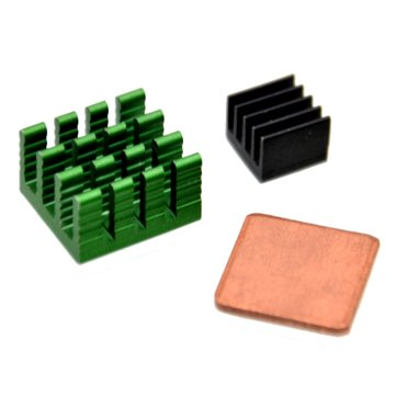 3Pcs Aluminum Heat Sink Kit With Coppor For Raspberry Pi 2 model B