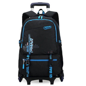 Trolley Backpack Luggage Suitcase Bag School Bag Travel Camping Shoulder Bag With Six Wheels