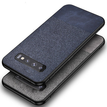 Bakeey Cotton Cloth Protective Case For Samsung Galaxy S10e/S10/S10 Plus Anti Fingerprint Back Cover