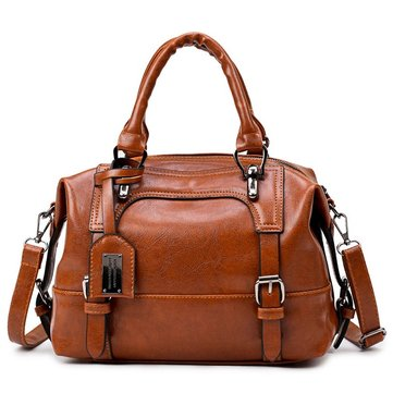 Women Quality PU Leather Elegant Vintage Functional Handbag Shoulder Bag Crossbody Bag