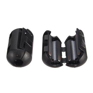 Black Cable Wire Snap Clamp Clip RFI EMI EMC Noise Filters Ferrite Core Case 3.5-13mm