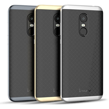 iPaky Hybrid Armor Shockproof Anti-fingerprint Silicone Protective Case For Xiaomi Redmi 5 Plus