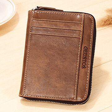 Men Genuine Leather 16 Card Slots Driver License Coin Bag Card Holder Wallet