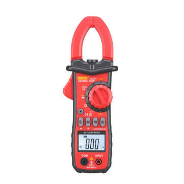 UA2008A Handheld Dual Open Digital Clamp Multimeter AC/DC Voltage Test Probes