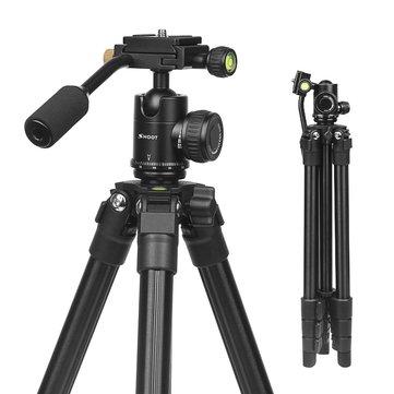 SHOOT XTGP440 Flexible 4-sections 0.93kg Portable Aluminum Tripod for DSLR Camera Digital Camcorder