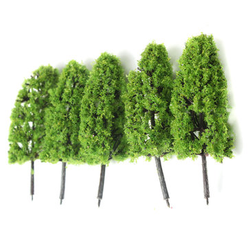 20pcs Dark/Light Green Trees Model Train Railway Forest Wargame Landscape