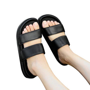 Korean Men Women Outdooors Couple Shoes Slippers Non-slip Breathable Soft Wearable Summer Beach