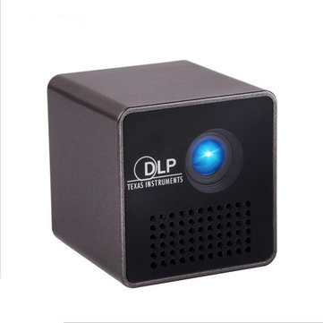 Newest P1 Micro LED Projector 15 Lumens HDMI Projector Built-in Battery DLP Home Movie Theater Proje