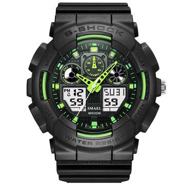 SMAEL1027àlamodemâle LED montre numérique étanche montre de sport de choc