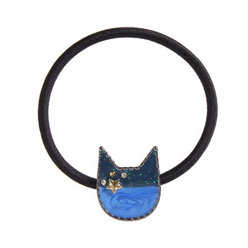 Sweet Cat Gem Star Kitten Hair Rope Kids Jewelry