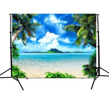 5X7ft Vinyl Sunshine Sea Beach Fond d'écran de toile de fond Studio Photo Prop