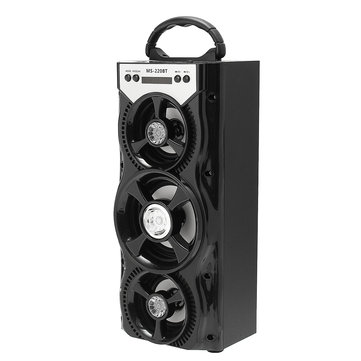MS-220BT Indoor Outdoor Super Bass Bluetooth Portable Wireless Speaker with USB/FM/TF/AUX