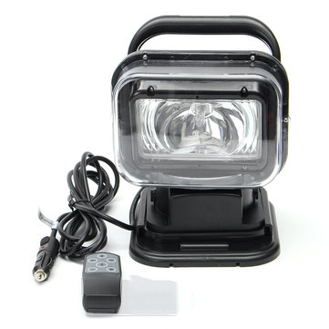 12V 75W 360 Degree Marine Vehicle Remote Control Headlight Spotlight Searchlight