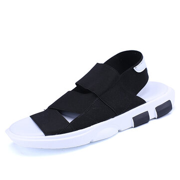 Men Casual Elastic Band Summer Sandals Beach Shoes