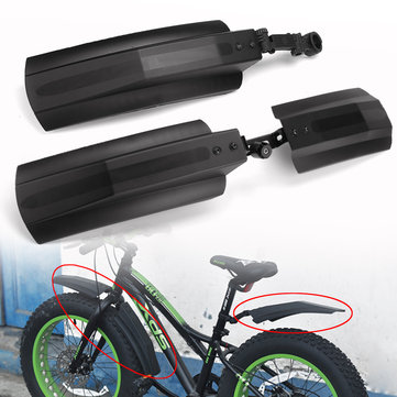 BIKIGHT 26 inch Snow Bicycle Bike Front Rear Mudguard Cycling Bike Fender For Fat Tire Mountain Bike