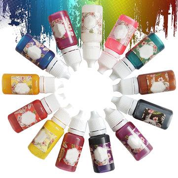 13 colores epoxi UV resina colorante colorante colorante pigmento fácil caída punta sin olor