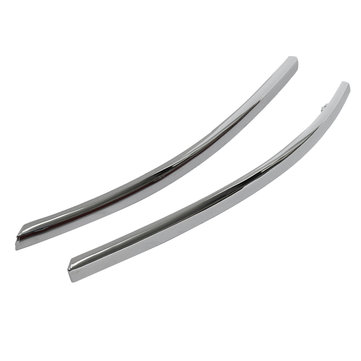 Pair Front Bumper Chrome Car Moulding Trim Strip Covers For AUDI C6 A6 2005-2008