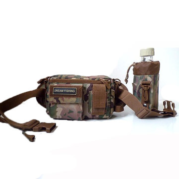 Dream Fishing 22*10*14cm M18 Detachable France 200 Nylon Multi-Function Fishing Bag Waist Bag Tackle