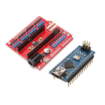 Funduino Nano Expansion Board + ATmega328P Nano V3 Improved Version For Arduino